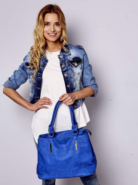 Niebieska torba miejska na ramię                                  zdj.                                  6