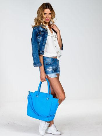 Niebieska torba shopper bag                                  zdj.                                  6