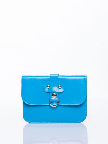 Niebieska torebka listonoszka z klapką                                  zdj.                                  1