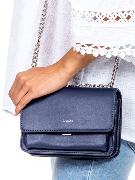 Niebieska torebka na łańcuszku                              zdj.                              2