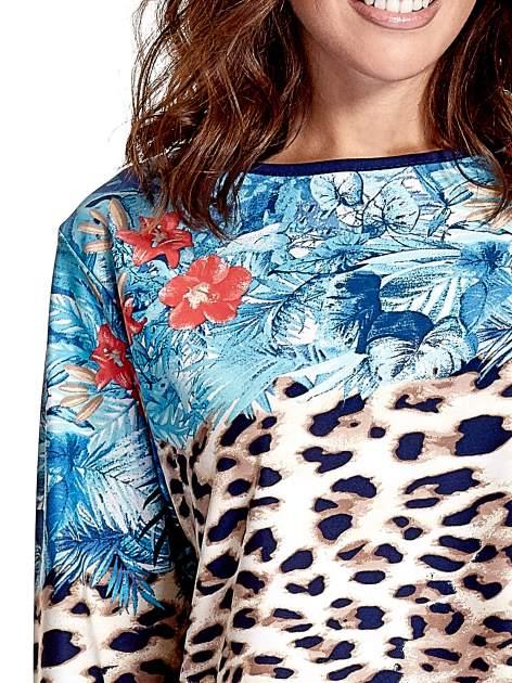 Niebieska tunika z motywem animal print                                  zdj.                                  5