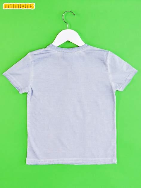 Niebieski dekatyzowany t-shirt chłopięcy MINIONKI                                  zdj.                                  2