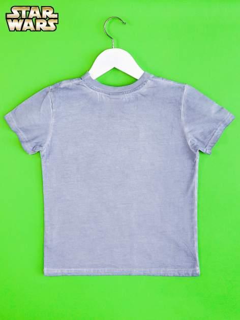 Niebieski dekatyzowany t-shirt chłopięcy STAR WARS                                  zdj.                                  2