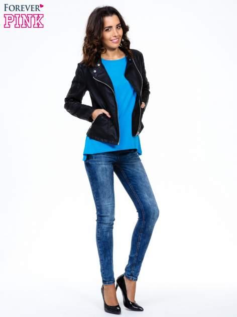 Niebieski luźny t-shirt                                   zdj.                                  2