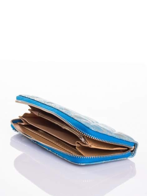 Niebieski pikowany portfel                                  zdj.                                  3
