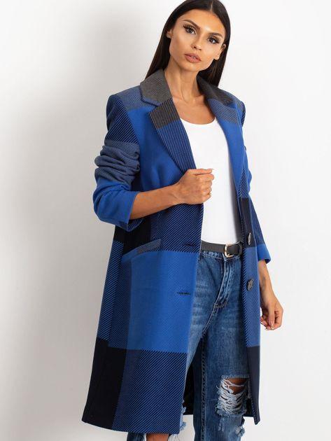Niebieski płaszcz Geometric                              zdj.                              1
