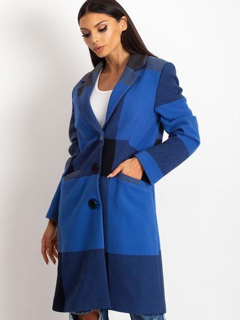 Niebieski płaszcz Geometric                              zdj.                              5