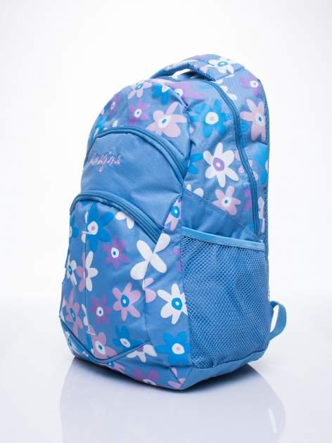 Niebieski plecak dla dziewczynki DISNEY w kwiatki                                  zdj.                                  2
