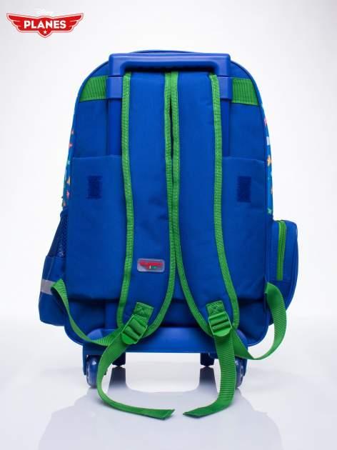 Niebieski plecak szkolny na kółkach walizka DISNEY Samoloty                                  zdj.                                  3