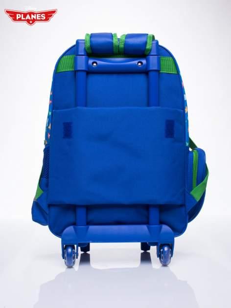 Niebieski plecak szkolny na kółkach walizka DISNEY Samoloty                                  zdj.                                  4