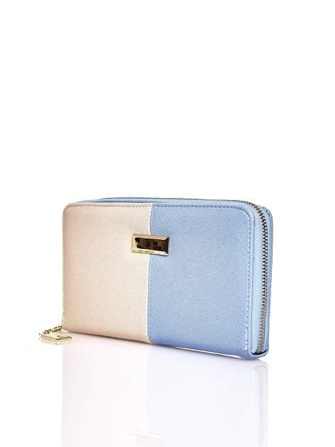 Niebieski portfel two tone z uchwytem                                  zdj.                                  3