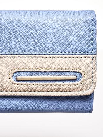 Niebieski portfel z beżowym wykończeniem                                  zdj.                                  6