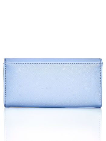 Niebieski portfel z beżowym wykończeniem                                  zdj.                                  2
