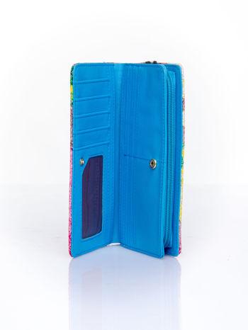 Niebieski portfel z egzotycznym nadrukiem                                  zdj.                                  5