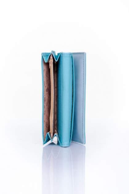Niebieski portfel z motywem skóry aligatora                                  zdj.                                  5