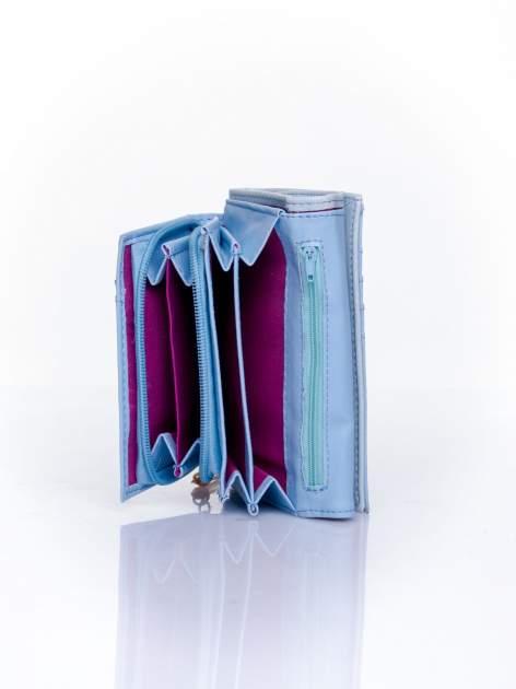 Niebieski portfel z ozdobnym zapięciem                                  zdj.                                  5