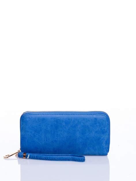 Niebieski portfel z rączką                                  zdj.                                  1