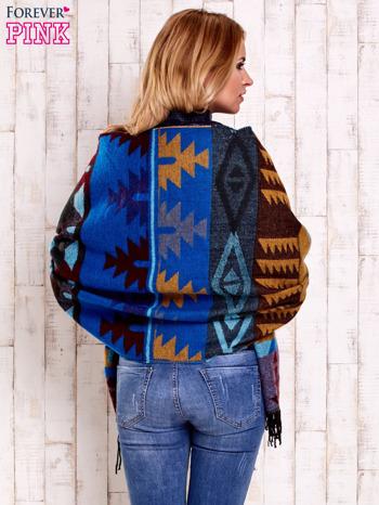 Niebieski szalik z motywami azteckimi                                  zdj.                                  5