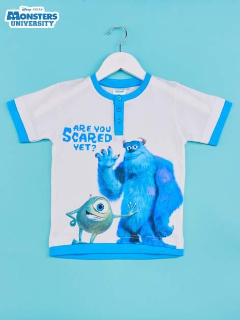 Niebieski t-shirt chłopięcy UNIWERSYTET POTWORNY                                  zdj.                                  1