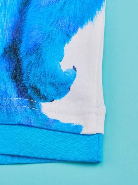 Niebieski t-shirt chłopięcy UNIWERSYTET POTWORNY                                  zdj.                                  4