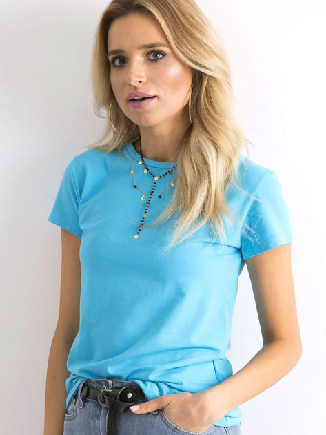 Niebieski t-shirt Peachy                              zdj.                              5