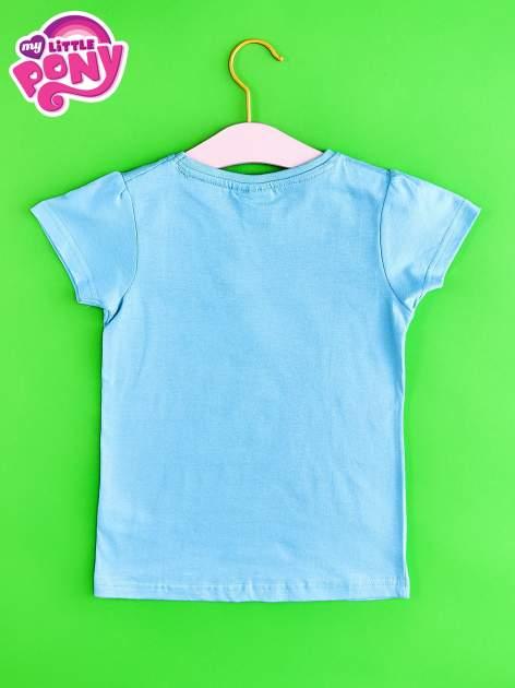 Niebieski t-shirt dla dziewczynki z nadrukiem MY LITTLE PONY                                   zdj.                                  2