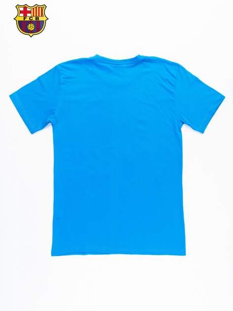 Niebieski t-shirt męski FC BARCELONA                                  zdj.                                  10