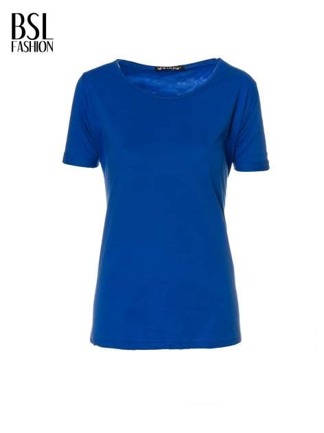 Niebieski t-shirt z numerkiem 10 na plecach i rękawie                                  zdj.                                  2