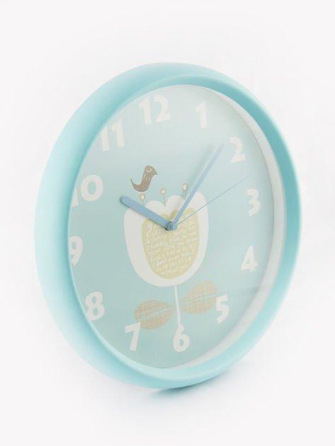 Niebieski zegar ścienny                               zdj.                              4
