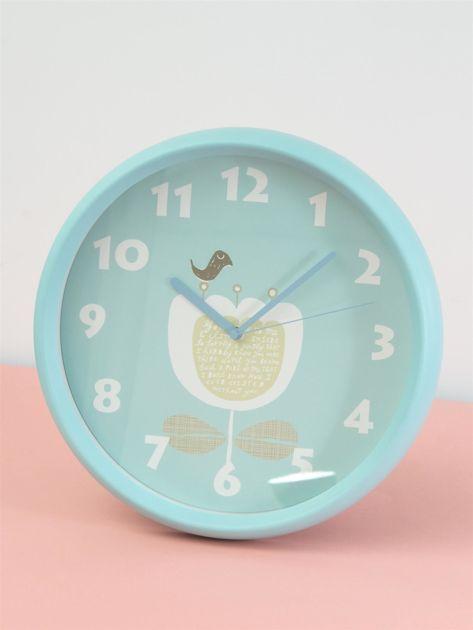 Niebieski zegar ścienny                               zdj.                              6