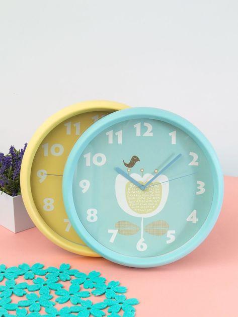 Niebieski zegar ścienny                               zdj.                              7