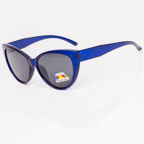 Niebieskie Damskie Okulary POLARYZACYJNE CAT EYE                              zdj.                              2