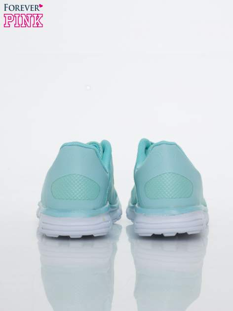 Niebieskie buty sportowe damskie z podeszwą z rowkami flex                                  zdj.                                  4