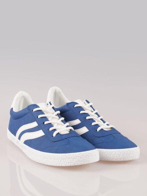 Niebieskie buty sportowe w stylu casual Kash                                  zdj.                                  2