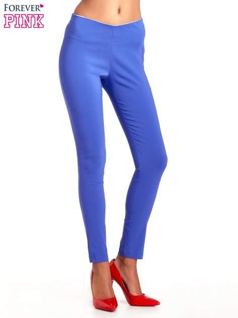 Niebieskie dopasowane spodnie typu tregginsy                                  zdj.                                  1