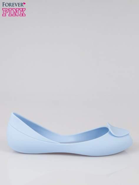 Niebieskie gumowe baleriny meliski z sercem                                  zdj.                                  1
