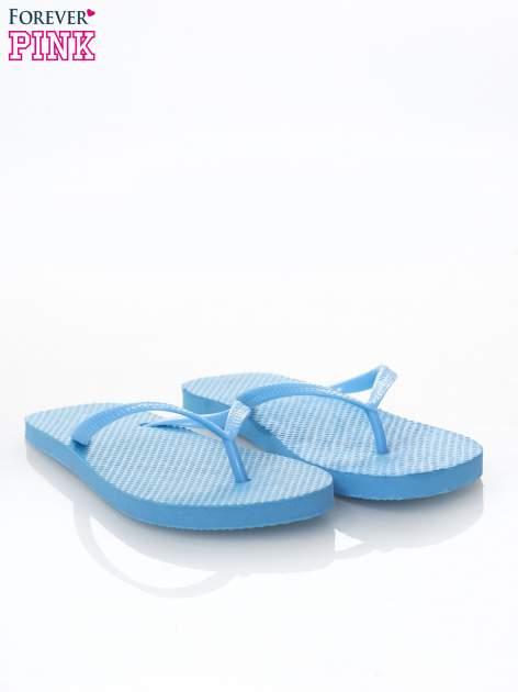 Niebieskie gumowe japonki damskie                              zdj.                              2