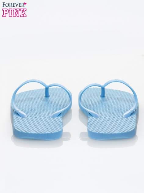 Niebieskie gumowe japonki damskie                              zdj.                              3