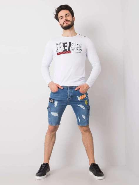 Niebieskie jeansowe spodenki męskie Carlos