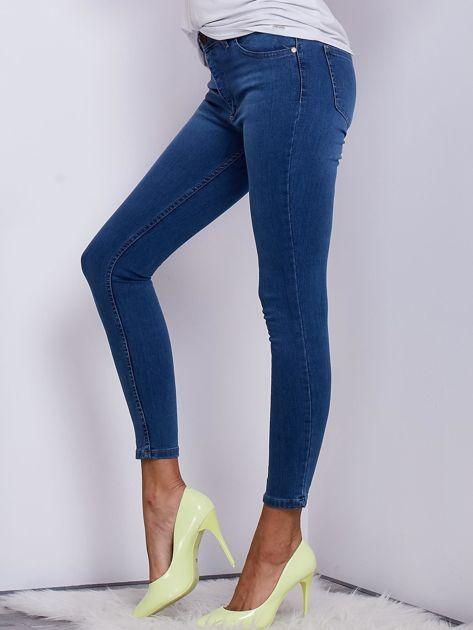 Niebieskie jeansowe spodnie ze stretchem                               zdj.                              3