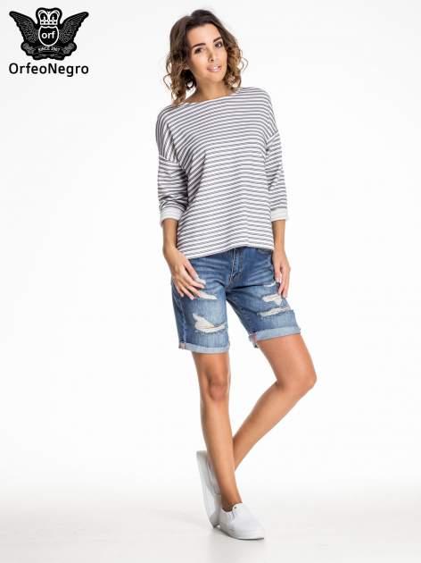 Niebieskie jeansowe szorty z podwijaną nogawką                                  zdj.                                  5