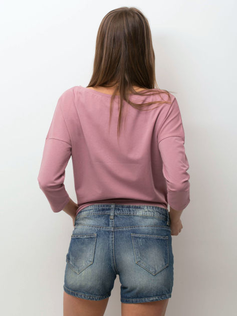 Niebieskie jeansowe szorty z przetarciami                              zdj.                              2