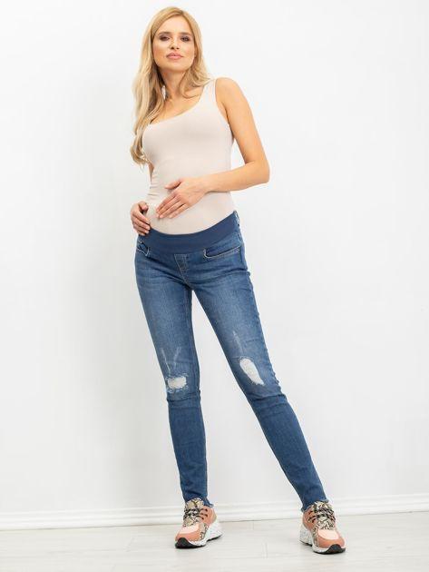 Niebieskie jeansy ciążowe Cuteness                              zdj.                              4