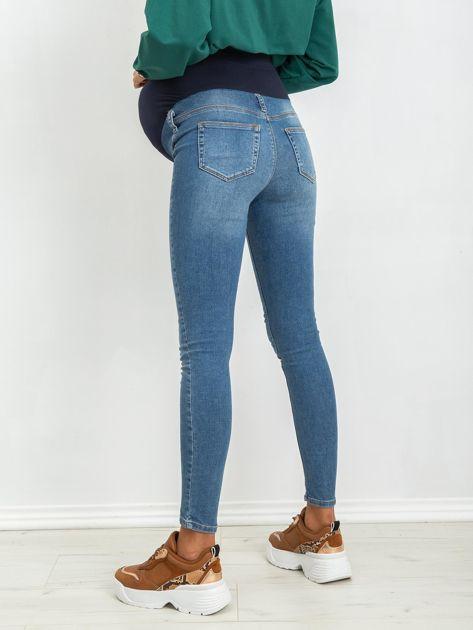 Niebieskie jeansy ciążowe Lillie                              zdj.                              2