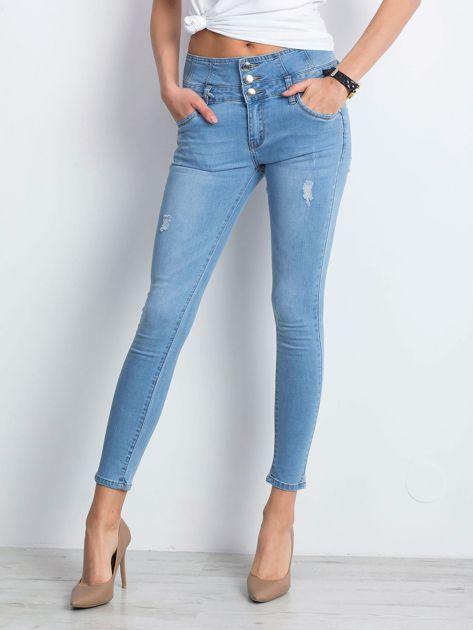 Niebieskie jeansy Plunge