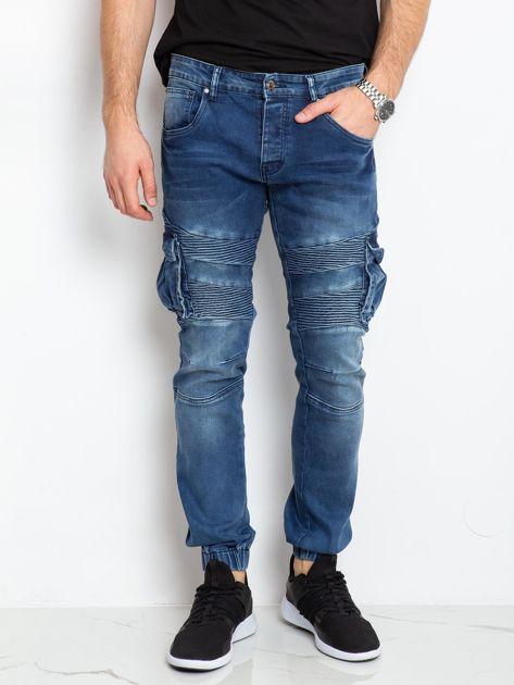 Niebieskie jeansy męskie Vincent