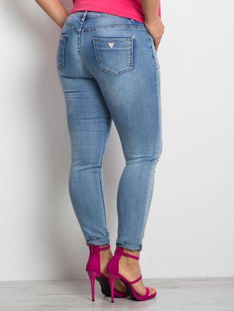 Niebieskie jeansy plus size Undecided                              zdj.                              2