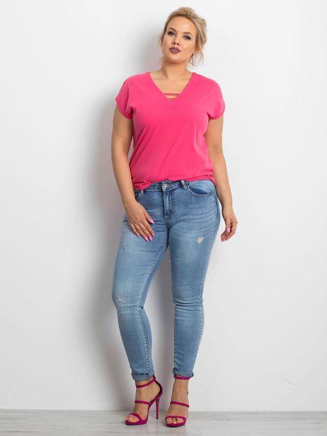 Niebieskie jeansy plus size Undecided                              zdj.                              4