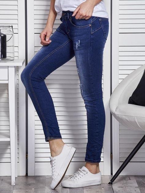 Niebieskie jeansy skinny                               zdj.                              3