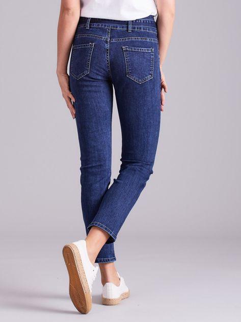Niebieskie jeansy z wiązaniem                              zdj.                              2
